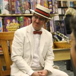 Patrick Tracey, Julia's husband, in 1920s costume, at Alameda book launch, Oct. 2012