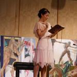 Mia Romero portrays Doris in a scene from The Doris Diaries staged reading.