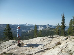 My late brother-in-law Dennis, in the mountains he loved so much.