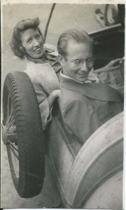 Doris in a rumble seat
