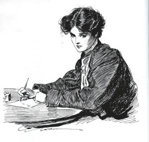 bw sketch writing